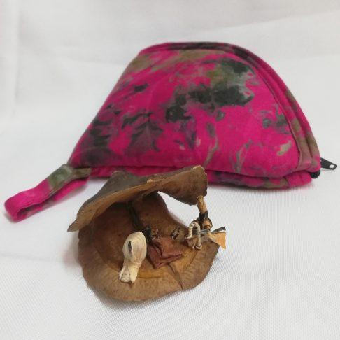 Natavità in iacarta con bustina colorata